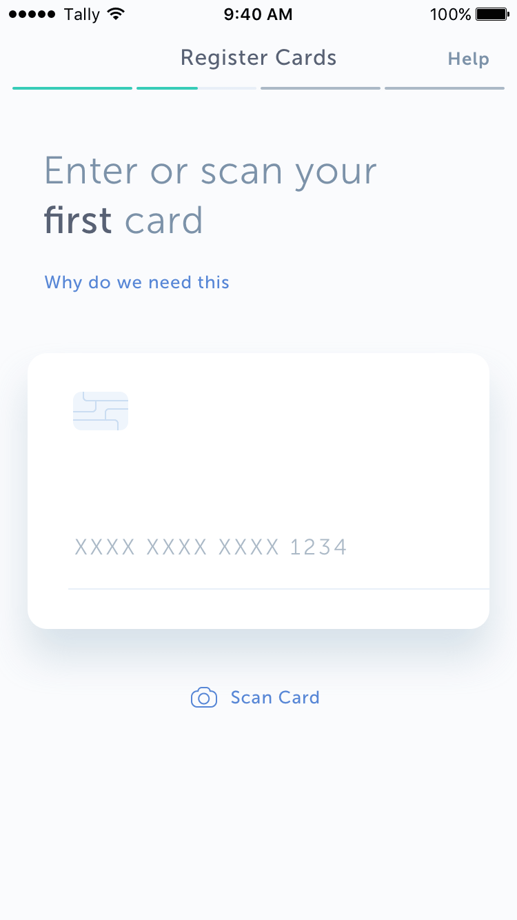 Add Credit Cards to Tally App
