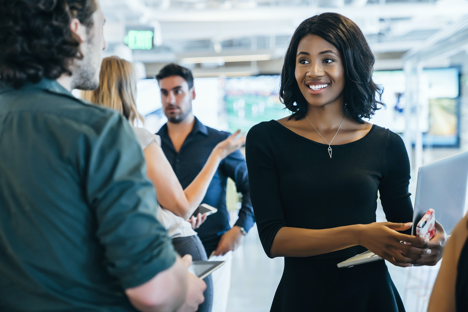 What to do when unemployed: People at a networking event