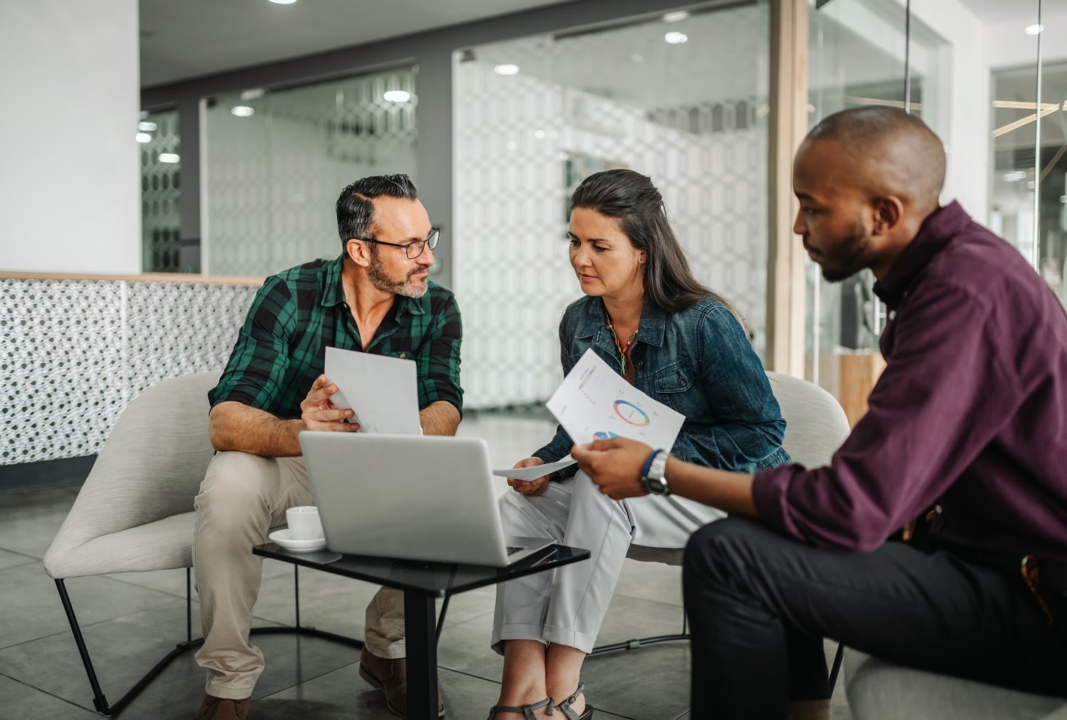 How to get a line of credit: A group of people discuss finances